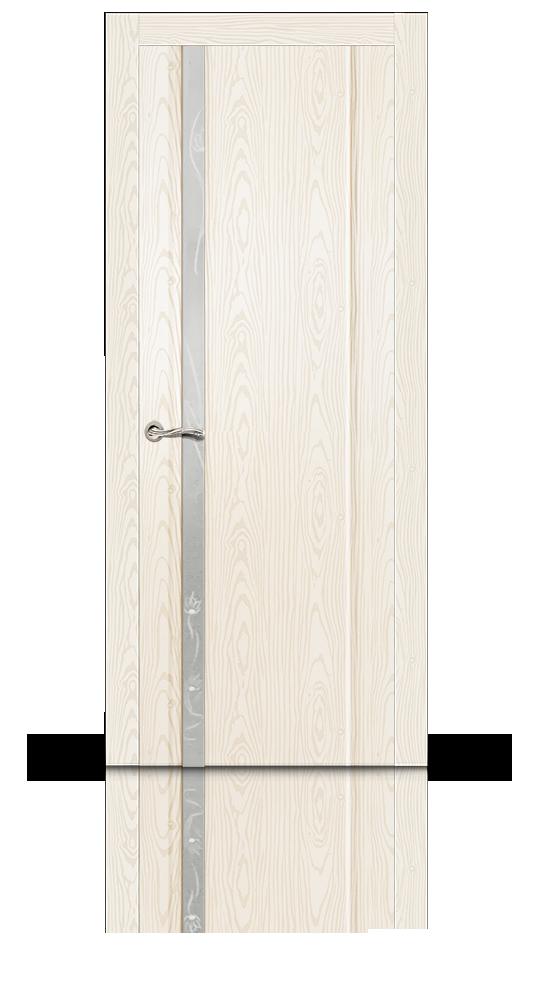 Межкомнатная дверь Бриллиант-1 остекленная белый ясень 8508 купить по 9 257 руб. в Екатеринбурге от фабрики СитиДорс
